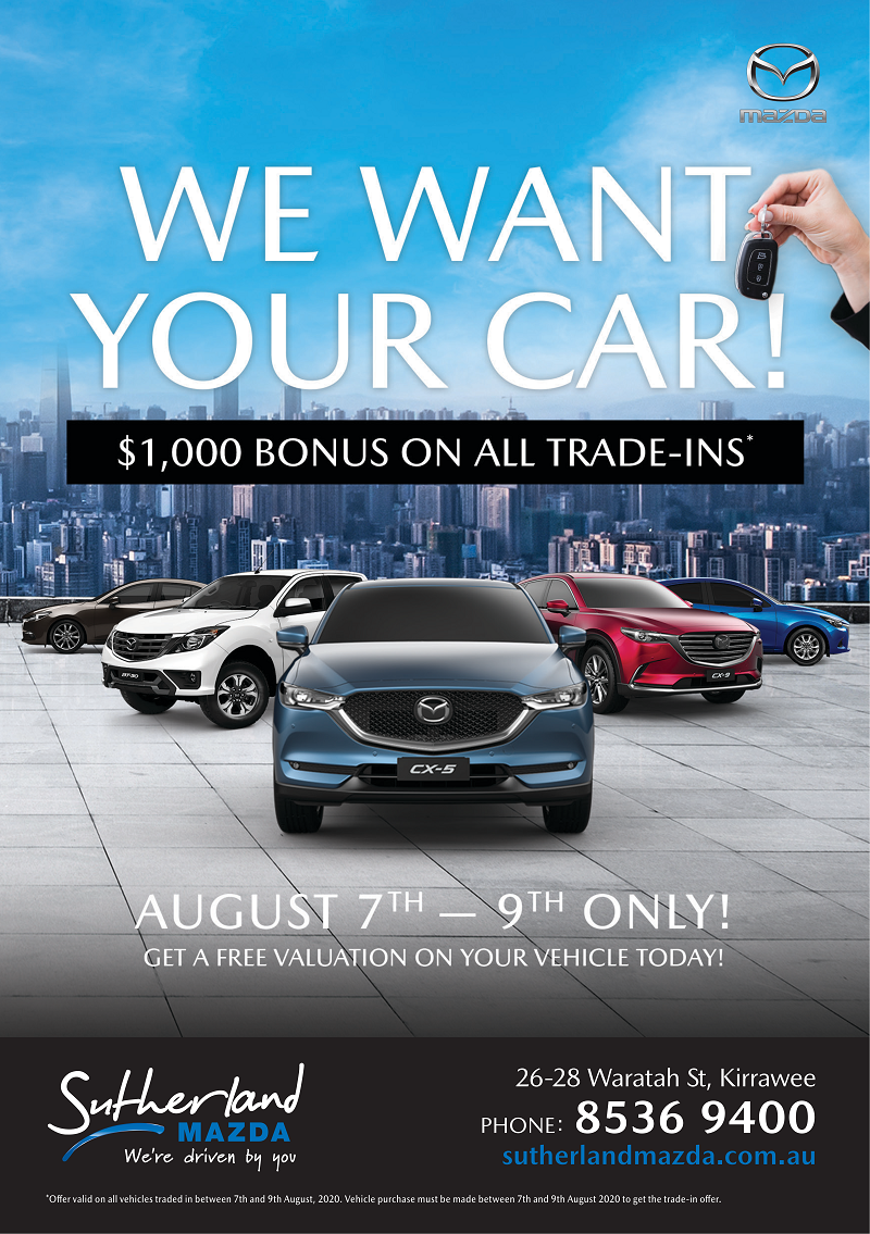 Sutherland Mazda - We Want Your Car